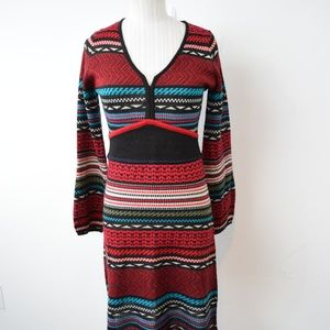 Desigual Dress Medium Geometric Long Sleeve
